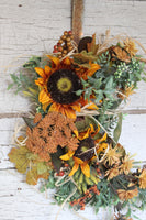 Fall Sunflower Hoop Wreath