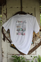 I love all things... vintage shabby chippy, old rusty graphic tee with vintage truck