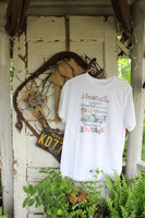 I love all things... White Vintage Graphic Tee Shirt with rusty truck
