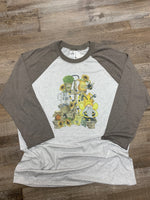 The Queen Bee Tee with Spring Garden Gnome, Bee Kind, bee shirt-Rust and Romance