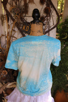 Happy Fall Y'all Bleached Tee with Serape and Leopard Pumpkins in Truck-Graphic T Shirts-Gypsy Farm Girl