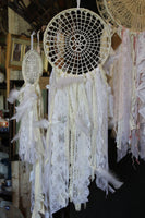 Vintage Lace Dream Catcher, boho, baby nursery decor, D5-GypsyFarmGirl-Rust and Romance