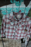 Size Youth Medium Distressed Flannel Shirt, Child's Medium 8/10, Bleached Flannels, Ombre Flannel, Gypsy, Grunge Flannels JE30-Rust and Romance-Rust and Romance