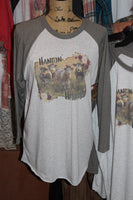 Hangin' with my Heifers Raglan T Shirt in multiple sizes, T shirt with cows-GypsyFarmGirl-Rust and Romance
