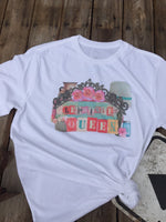 Flea Market Queen Graphic Tee Shirt with vintage market finds