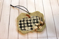 Buffalo Plaid Pumpkin Car Air Fresheners for Essential Oils Cow Tag, Benelux Fancy Square Shape