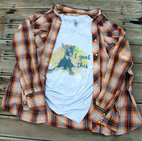 I Goat This Graphic Tee Shirt-Rust and Romance