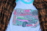 Rust Dust and Wanderlust, Graphic tee with rustic vintage truck load of junk