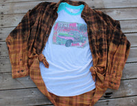Rust Dust and Wanderlust, Graphic tee with rustic vintage truck load of junk-Rust and Romance