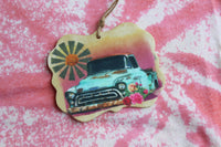 Sunrise Windmill Truck Vehicle DIY Car Air Fresheners for Essential Oils or Perfumes