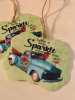 Leave a Little Sparkle Wherever You Go Key Chain or DIY Freshener