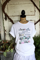 I love all things tattered shabby cracked chippy old worn rusty weathered vintage graphic t shirt with turquoise vintage truck