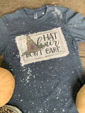 Hat Hair Don't Care bleached tee with Witches Hat