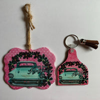 Just keep rolling key chain and car air freshener car accessory set key chain and freshener