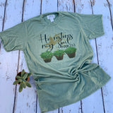He restores my soul - uplifting tee with cactus and scripture