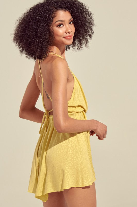 Lemon Leopard Dress