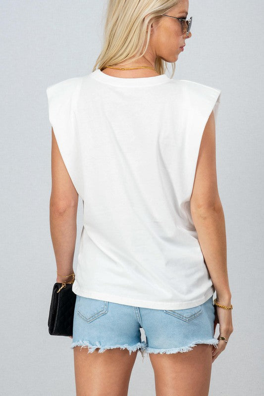 White Essential Muscle Tee