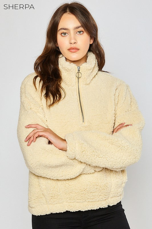 Cream Teddy Bae Pullover