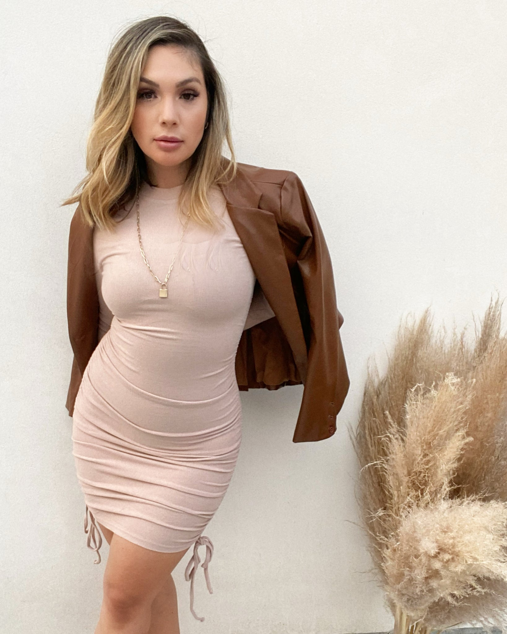 Nude Kendall Dress