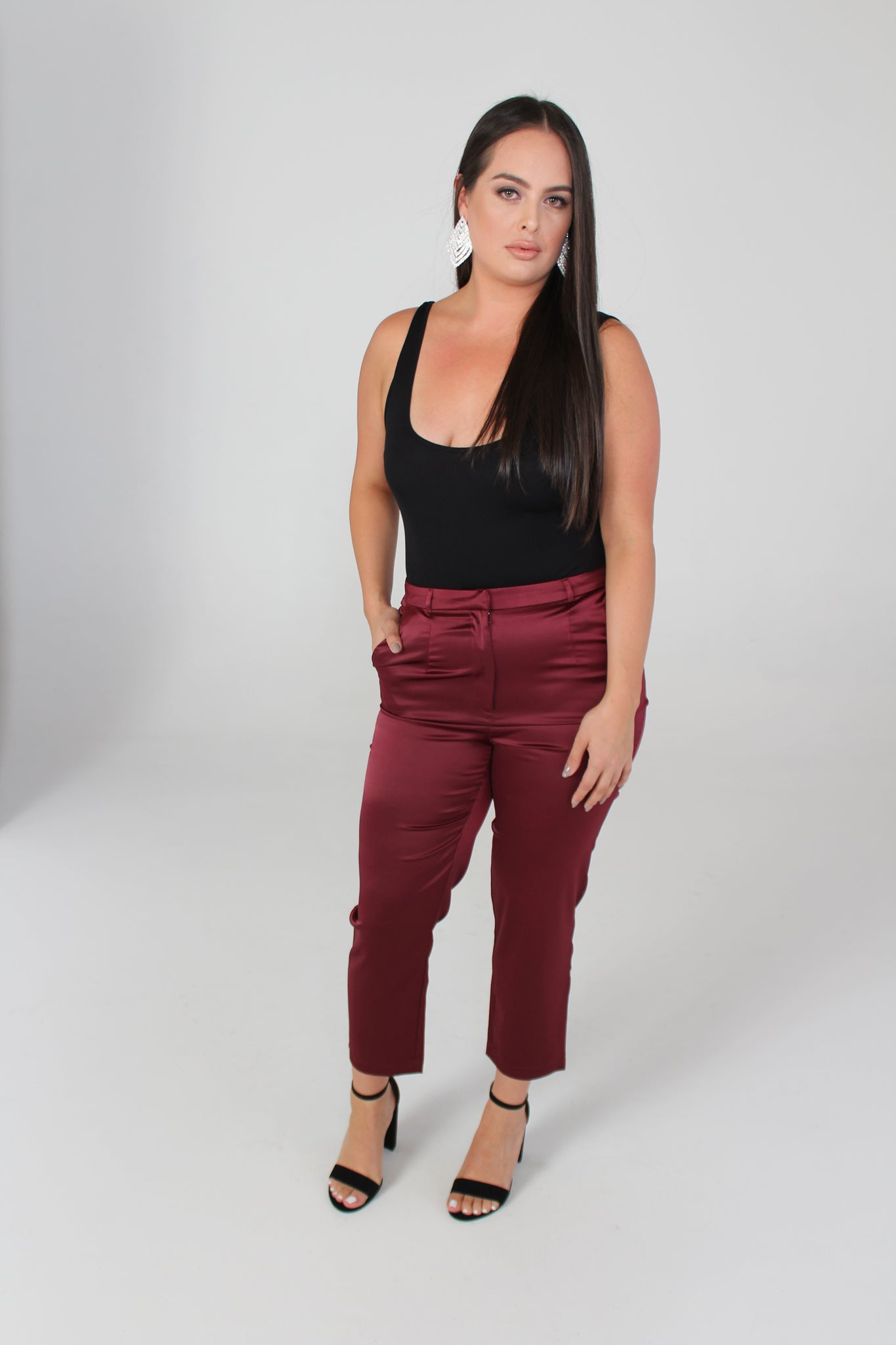 Burgundy Fancy Pants