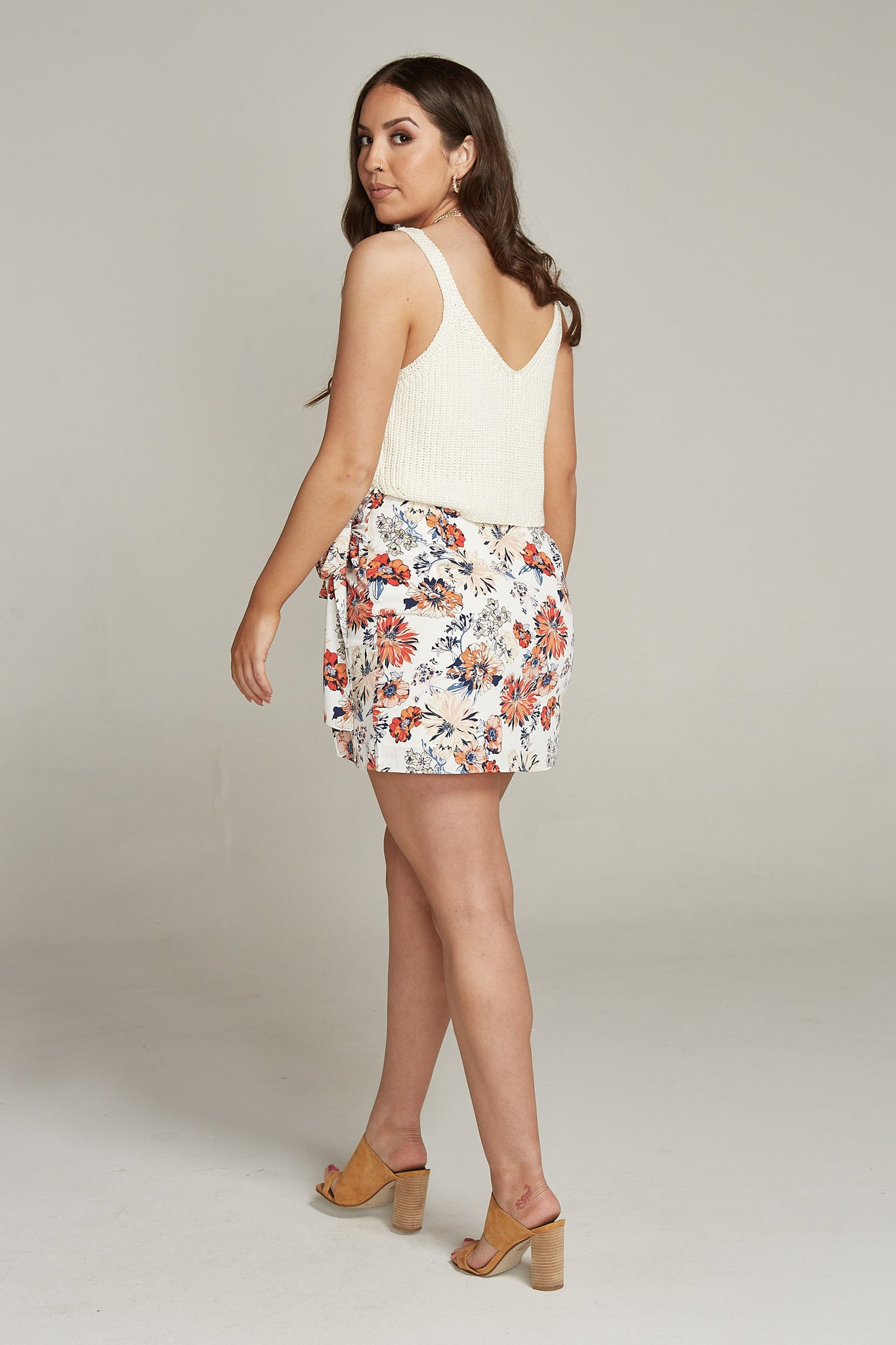 Wrap It Up Floral Skirt