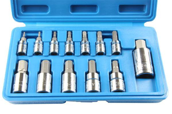 US. PRO by Bergen 13pc HEX BIT SOCKET SET 2-12mm allen key B1120