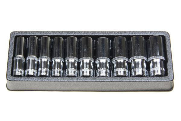 "Bergen 10pc 3/8""Dr Deep Sockets 10-19mm single Hex, 6 Point B1156"