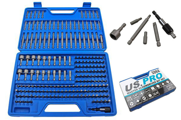208pc Master Screwdriver Hex Torx Tamper Bits and Accessory Set MM Imperial AF