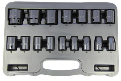 Franklin 16 Piece 1/2 in Drive Standard Impact Socket Set 10 - 32mm TA804