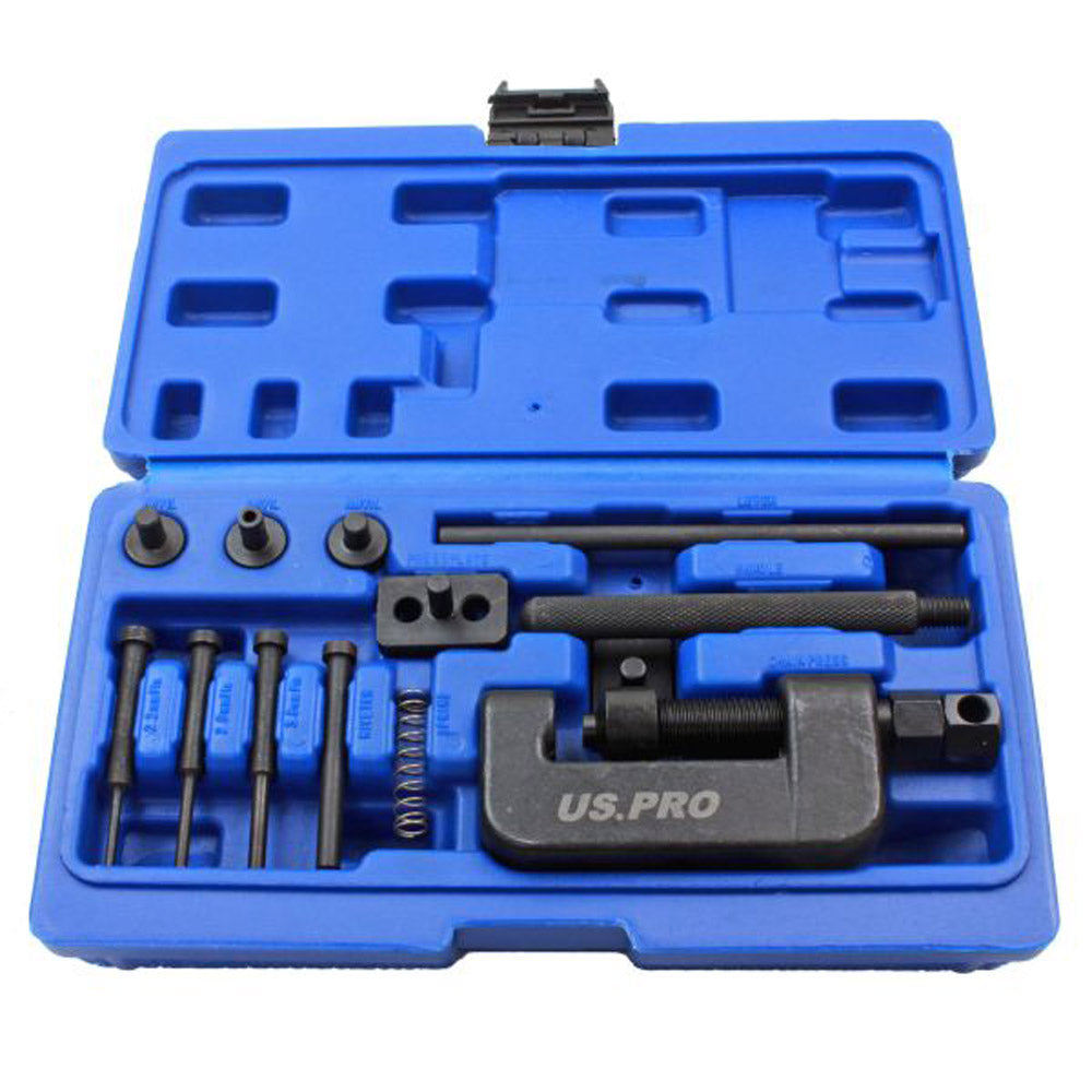 US Pro Motorcycle Chain Splitter Breaker & Link Riveter Tool