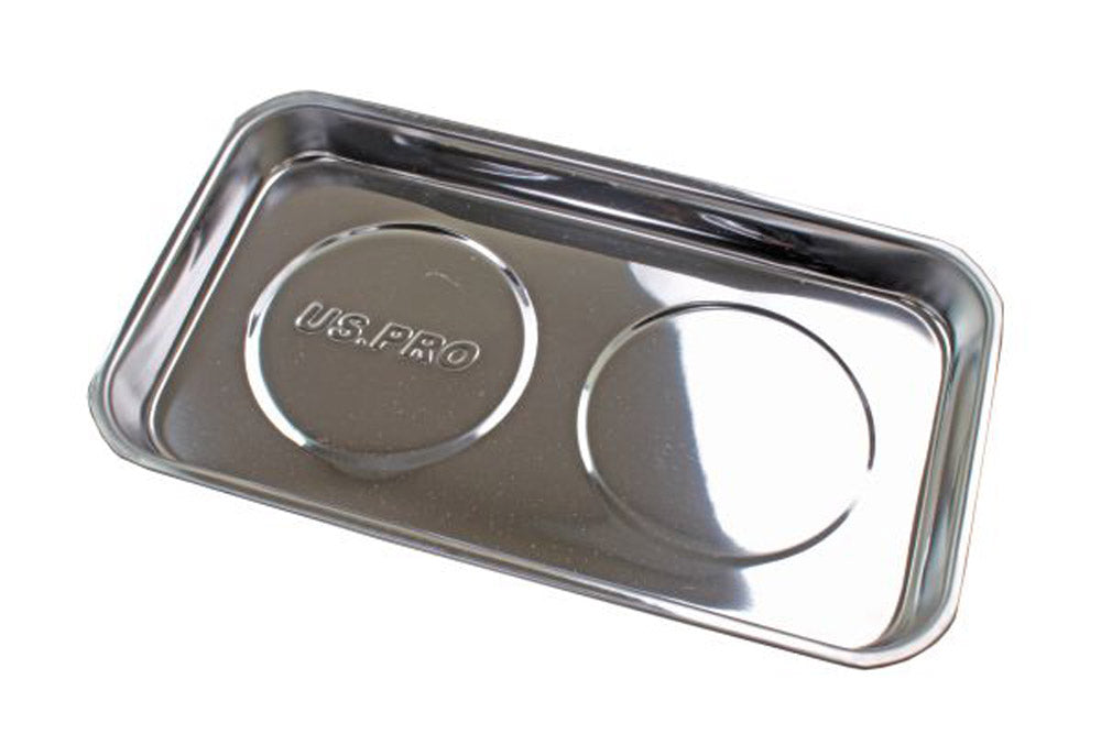Double Magnetic Parts Tray 5.5 x 9.5'' Stainless Steel Dish Heavy Duty Us Pro