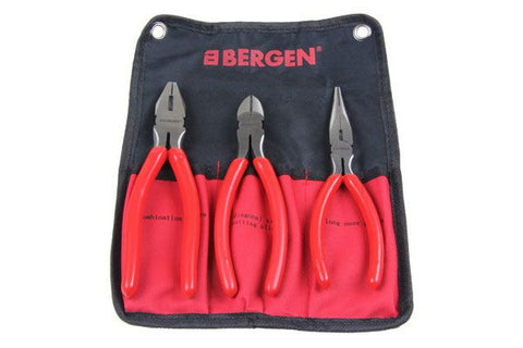 "Bergen 3PC 8"" COMBINATION PLIERS SET B1709"