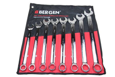 BERGEN 8pc Jumbo Combination Spanner Wrench Set 22-32mm B1856
