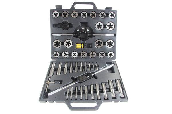 US PRO 45pc SAE Tungsten Tap & Die Set (AF) Alloy Steel