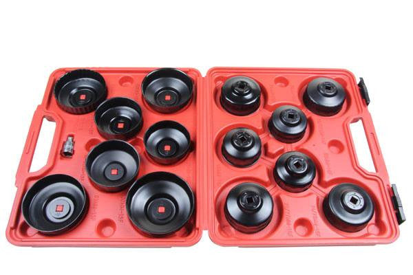 Bergen 15pc OIL FILTER WRENCH SET Cup Type Socket