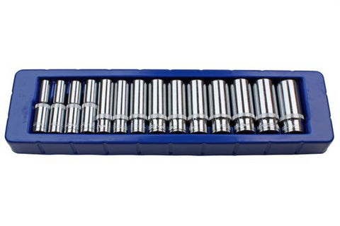 US PRO 14 pc 3/8 Dr 8-21mm Deep Single Hex Socket Set 6 point B1389