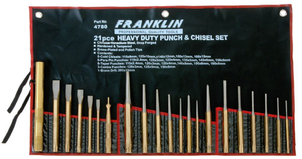 Franklin Tools 21pce Punch & Chisel Set 4780