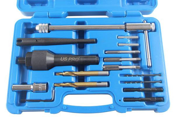 Us Pro by BERGEN 16PC DAMAGED GLOW PLUG REMOVAL 8 -10mm SET Remover Extractor B5514