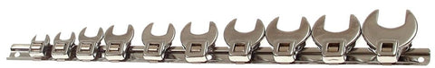 "Franklin Tools 10 pce Crowfoot Wrench Set 3/8"" TA701"