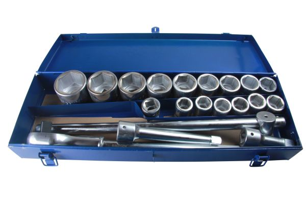 "Bergen 20pc 3/4"" DR 6 point Socket Wrench Set (19 - 50mm) B1093"