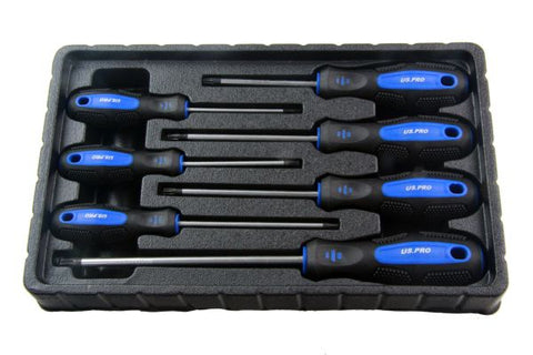 US PRO 7pc Torx Star Screwdriver Set Trx-Star Cushioned Grip Screwdrivers T10-30 B1586