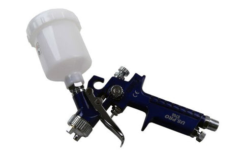 US PRO Mini HVLP Gravity Feed Spray Gun 115ml plastic Cup 0.8mm Nozzle B8768