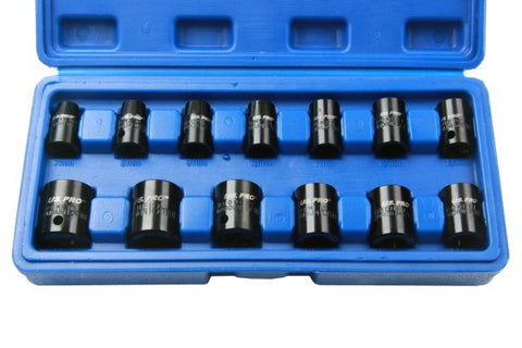 "US PRO 14pc Metric 3/8""Dr Impact Socket Set 7-19mm B1365"