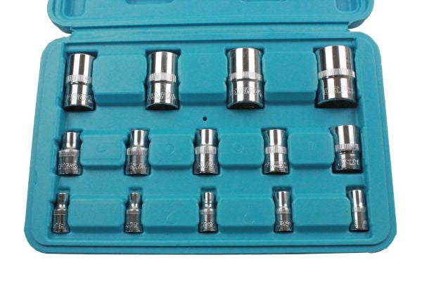 "US PRO 14PC TRX-STAR E-torx SOCKETS 1/4"", 3/8"", 1/2"" DRIVE B1694"