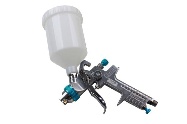 US PRO Gravity FEED HVLP SPRAY GUN 1.4mm Nozzle Low Pressure 600mm pot B8769