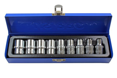 US PRO 9pc 1/2 Female Torx E-TRX Star Socket Set B3255