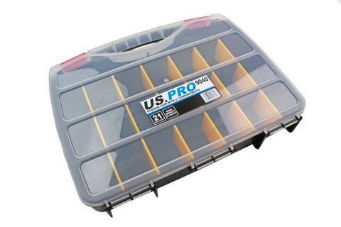 US Prostorage case with removable dividers, up to 21 compartments B9040