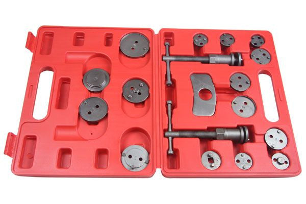 18pc BRAKE CALIPER PISTON WIND-BACK TOOL KIT Set