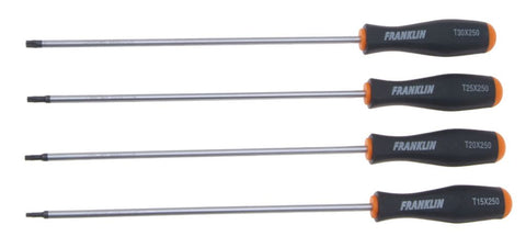 Franklin Tools 4pce Star Screwdriver Set 250mm 6400