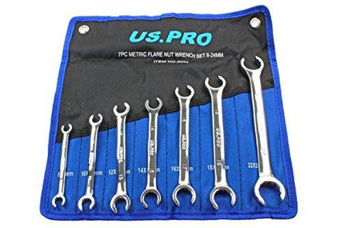 US PRO 7pc Brake Flare Nut Spanners Wrench set 8-24mm B2044